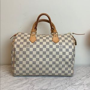 Handbags - Louis Vuitton Damier Azul Speedy 30